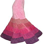 Одежда ручной работы. Ярмарка Мастеров - ручная работа Юбка длинная вельветовая многоярусная. Handmade.