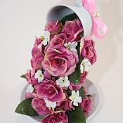 Композиции ручной работы. Ярмарка Мастеров - ручная работа Композиции: цветочный фонтан. Handmade.