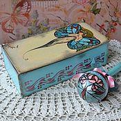 Куклы и игрушки ручной работы. Ярмарка Мастеров - ручная работа деревянная погремушка в шкатулочке в стиле Тиффани. Handmade.
