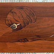 """Картины и панно ручной работы. Ярмарка Мастеров - ручная работа """"Жара"""" шпон-маркетри. Handmade."""