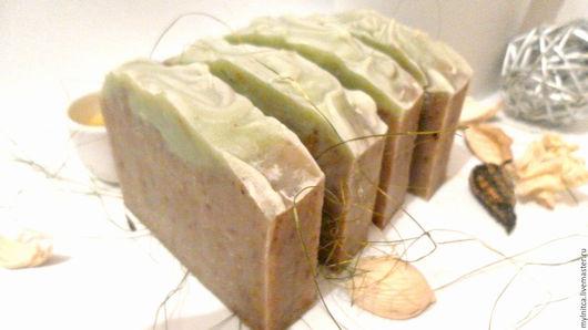 Мыло ручной работы. Ярмарка Мастеров - ручная работа. Купить Чайная пауза натуральное мыло с нуля. Handmade. Зеленый