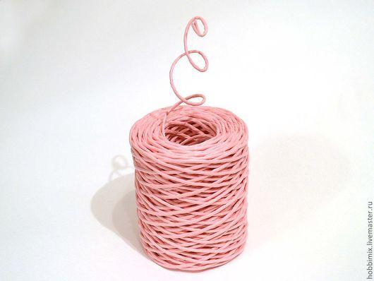 Упаковка ручной работы. Ярмарка Мастеров - ручная работа. Купить Проволока в бумажной обмотке розовая. Handmade. Розовый, проволока в обмотке