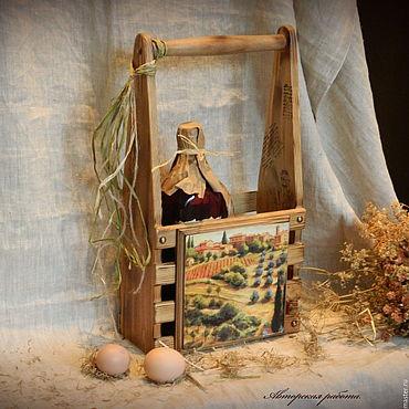 """Для дома и интерьера ручной работы. Ярмарка Мастеров - ручная работа Короб для вина, мини бар """" Солнечная Тоскана"""".. Handmade."""