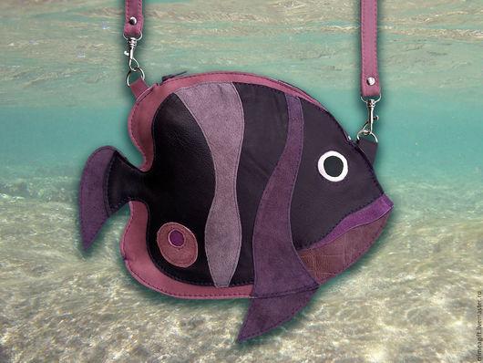 """Женские сумки ручной работы. Ярмарка Мастеров - ручная работа. Купить """"Рыбка коралловых рифов"""" - лиловая. Handmade. Рыбка"""