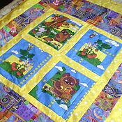 """Для дома и интерьера ручной работы. Ярмарка Мастеров - ручная работа детское лоскутное одеяло - покрывало  """"Винни и ..."""". Handmade."""