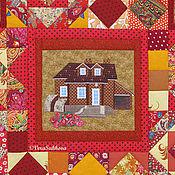 """Для дома и интерьера ручной работы. Ярмарка Мастеров - ручная работа Лоскутное покрывало """"Под крышей дома моего"""". Handmade."""