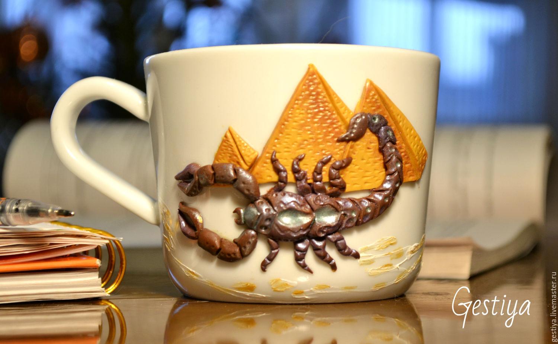 Кружка  с декором Скорпион, Кружки и чашки, Санкт-Петербург,  Фото №1