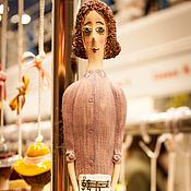 """Куклы и игрушки ручной работы. Ярмарка Мастеров - ручная работа Кукла-колокольчик """"Девушка с нотами (с палитрой)"""". Handmade."""
