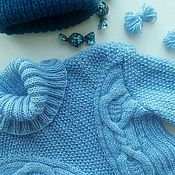 Одежда ручной работы. Ярмарка Мастеров - ручная работа Свитер голубая Верона. Handmade.