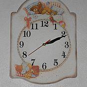 """Для дома и интерьера ручной работы. Ярмарка Мастеров - ручная работа Часы """" Спят усталые игрушки"""". Handmade."""