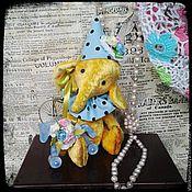 """Куклы и игрушки ручной работы. Ярмарка Мастеров - ручная работа Слоник тедди """" Солнечный"""". Handmade."""