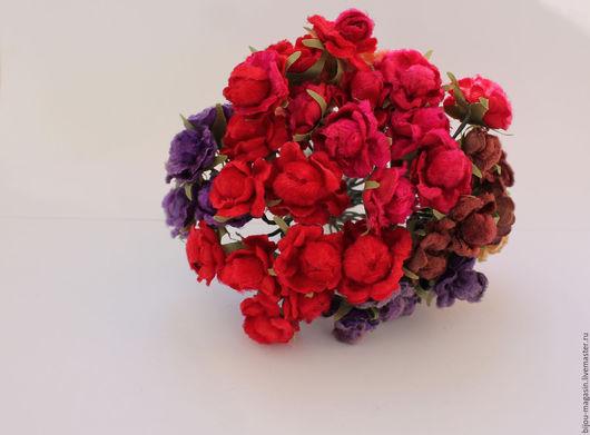 Аппликации, вставки, отделка ручной работы. Ярмарка Мастеров - ручная работа. Купить Винтажные бархатные цветы, цвета розовый, красный, персиковый и тд. Handmade.