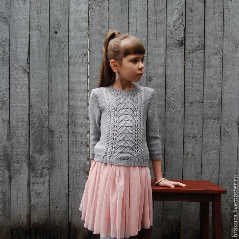 Детский Вязаный Пуловер Доставка