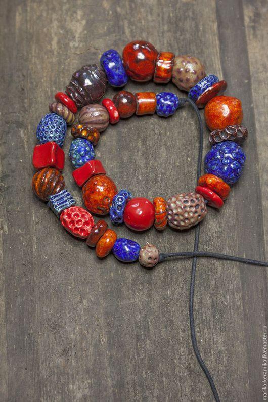 Колье, бусы ручной работы. Ярмарка Мастеров - ручная работа. Купить Бусы Мексика. Handmade. Керамика, керамические бусины, мексика