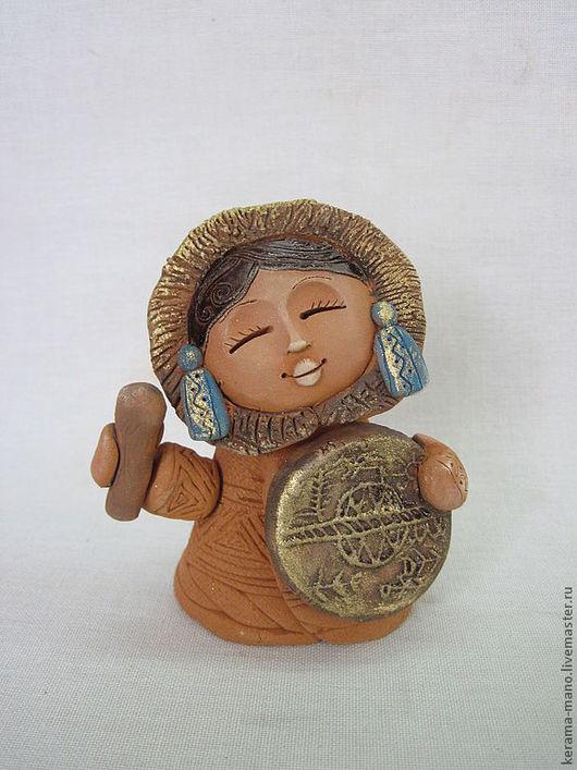 """Народные куклы ручной работы. Ярмарка Мастеров - ручная работа. Купить """"Звуки бубна"""". Handmade. Керамика ручной работы, шаманка"""