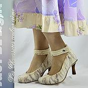 Туфли ручной работы. Ярмарка Мастеров - ручная работа Войлочные туфли на каблуке. Handmade.