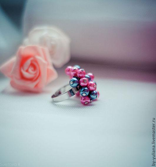 Кольца ручной работы. Ярмарка Мастеров - ручная работа. Купить Жемчужное кольцо. Handmade. Розовый, кольцо, жемчуг, украшение