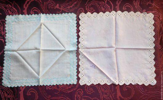 Винтажная одежда и аксессуары. Ярмарка Мастеров - ручная работа. Купить Старинный шелковый носовой платок, ручная вышивка, Франция. Handmade.