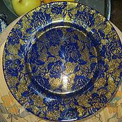 "Посуда ручной работы. Ярмарка Мастеров - ручная работа Декоративная тарелка "" Мерцающий бархат"". Handmade."