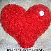 """Для дома и интерьера ручной работы. Ярмарка Мастеров - ручная работа Подушка """"Мягкое сердце"""". Handmade."""
