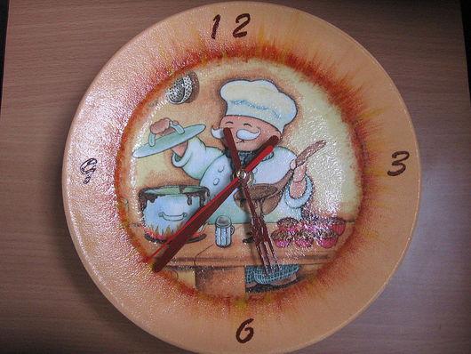 """Часы для дома ручной работы. Ярмарка Мастеров - ручная работа. Купить Часы """"Веселый повар"""". Handmade. Часы, подарок для женщины"""
