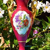 Винтаж handmade. Livemaster - original item Kaiser (Pompadur).  Luxury vase with handles.. Handmade.