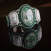 Украшения handmade. Livemaster - original item green. white. Bracelet with green variscite and white howlite.. Handmade.