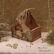 """Утварь ручной работы. Ярмарка Мастеров - ручная работа Короб-подставка  """" Чудо гриб"""". Мастер Юдина Оксана. Handmade."""