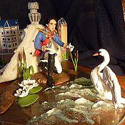"""Куклы и игрушки ручной работы. Ярмарка Мастеров - ручная работа Кукла-портрет Людвига II Баварского """"Король и Лебедь"""". Handmade."""