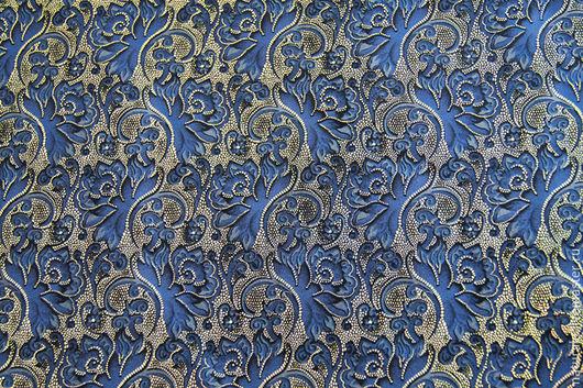 """Шитье ручной работы. Ярмарка Мастеров - ручная работа. Купить Натуральная замша """" Синяя с светлым золотом """". Handmade."""