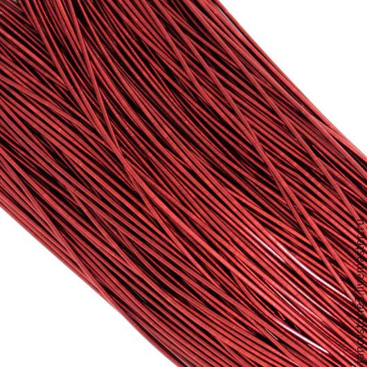 Для украшений ручной работы. Ярмарка Мастеров - ручная работа. Купить Канитель гладкая 1мм, цвет Темно-красный, Индия. Handmade.