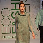 Одежда ручной работы. Ярмарка Мастеров - ручная работа Платье-туника из шерсти и шелковых волокон. Handmade.
