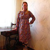 Одежда ручной работы. Ярмарка Мастеров - ручная работа Теплое домашнее платье. Handmade.