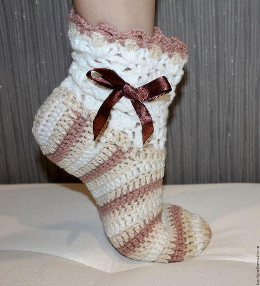 Носки, Чулки ручной работы. Ярмарка Мастеров - ручная работа. Купить Носки женские Нежность. Handmade. Белый, носки в подарок