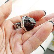 Украшения ручной работы. Ярмарка Мастеров - ручная работа Bear`s Blood.  Кольцо из серебра с гранатом.. Handmade.