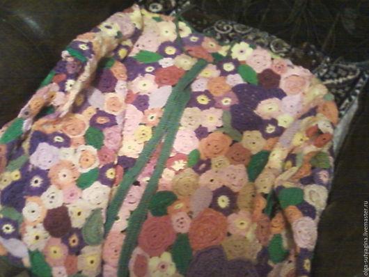 Кофты и свитера ручной работы. Ярмарка Мастеров - ручная работа. Купить Кофта, вязанная крючком. Handmade. Бледно-розовый, цветочный