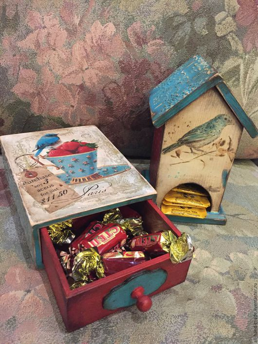 """Кухня ручной работы. Ярмарка Мастеров - ручная работа. Купить Набор """"Синяя птица"""". Handmade. Голубой"""