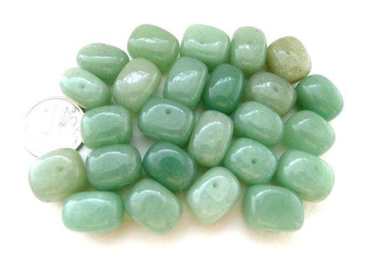 Для украшений ручной работы. Ярмарка Мастеров - ручная работа. Купить Набор 24 камня, авантюрин зелёный натуральный, галтовка, бусины. Handmade.
