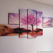 """Картины и панно ручной работы. Ярмарка Мастеров - ручная работа Картина """"Сакура"""". Handmade."""