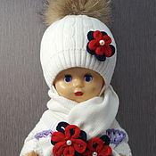 Аксессуары handmade. Livemaster - original item Hat and cowl