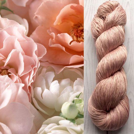 Вязание ручной работы. Ярмарка Мастеров - ручная работа. Купить Пряжа 100%шелк ручной окраски Desert rose. Handmade.
