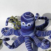 """Мягкие игрушки ручной работы. Ярмарка Мастеров - ручная работа Авторская вязаная игрушка """" Восьминожка"""". Handmade."""