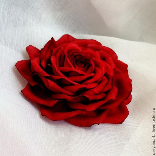 Диадемы, обручи ручной работы. Ярмарка Мастеров - ручная работа. Купить Красная роза из фоамирана - Страсть.. Handmade. Ярко-красный