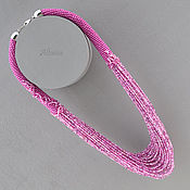 Necklace handmade. Livemaster - original item Desperately pink necklace. Handmade.