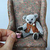 Куклы и игрушки ручной работы. Ярмарка Мастеров - ручная работа Мини-мишка Мишель. Handmade.