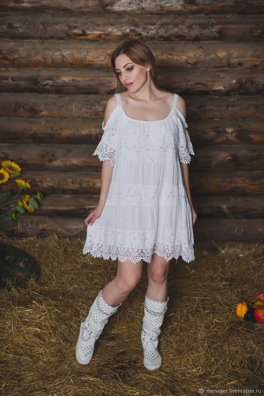 c839e1cc865 Платья ручной работы. Ярмарка Мастеров - ручная работа. Купить Легкое  летнее платье из хлопка ...