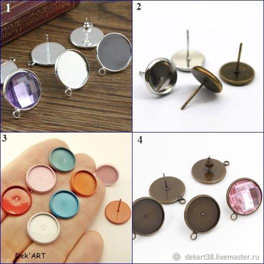 Basis for earrings Art. OS12, Blanks for jewelry, Irkutsk,  Фото №1