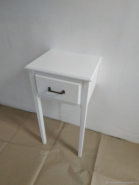 """Furniture handmade. Livemaster - handmade. Buy Консольный столик с выдвижным ящиком """"Торонто"""" белый.White, hallway, table for home"""