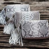 Сумки и аксессуары handmade. Livemaster - original item Women`s wallet genuine Python skin. Handmade.