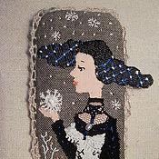 Украшения ручной работы. Ярмарка Мастеров - ручная работа Брошь текстильная Снежные сны. Handmade.